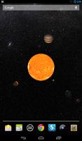 Screenshot of Solar System Live Wallpaper 3D