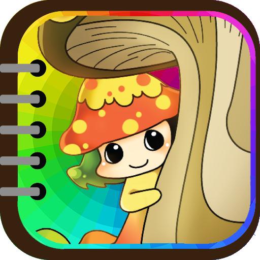 孩子著色 ( 蔬菜小精靈 ) 教育 App LOGO-硬是要APP