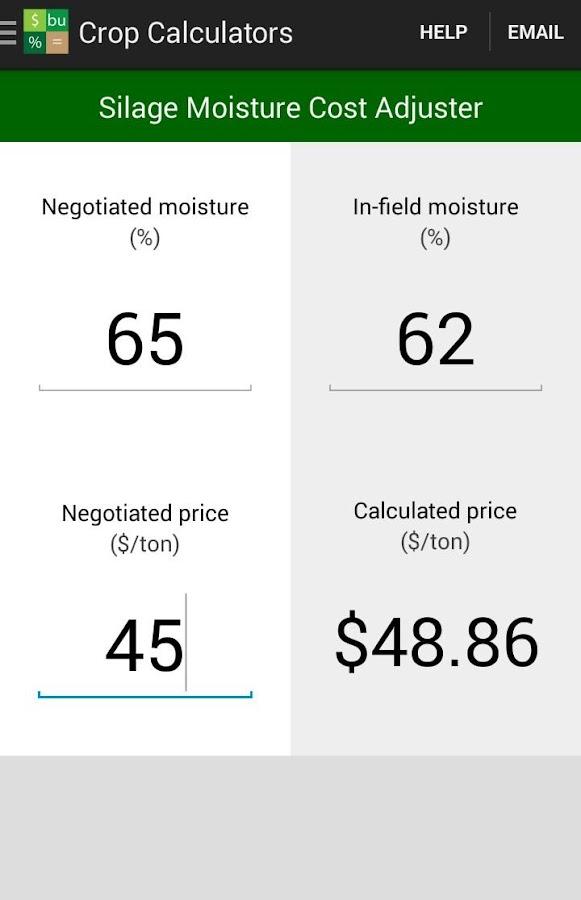 Crop Calculators- screenshot