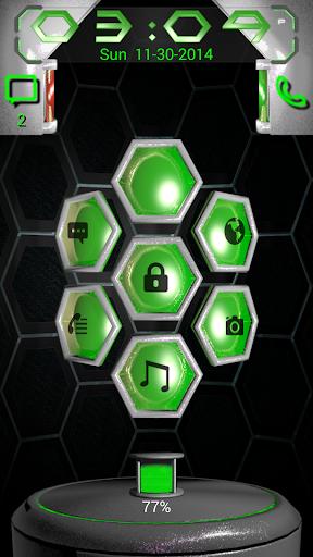 Next 3D Green Go Locker Theme