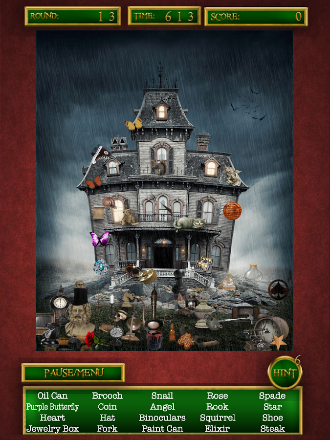Hidden Objects Haunted Houses- screenshot