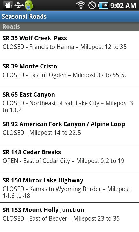 UDOT Traffic - screenshot