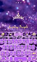 Screenshot of GO Keyboard Luxury Purple