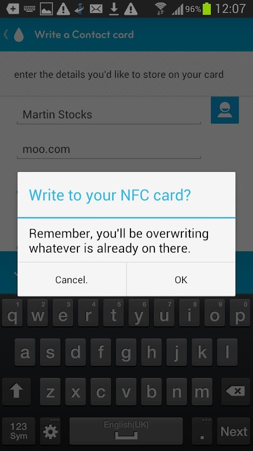 NFC par MOO - screenshot