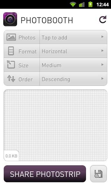 Photobooth Android App Screenshot