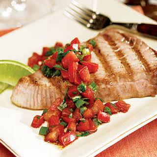 Grilled Tuna Steak with Fresh Salsa.