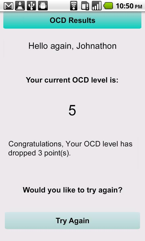 OCD - screenshot