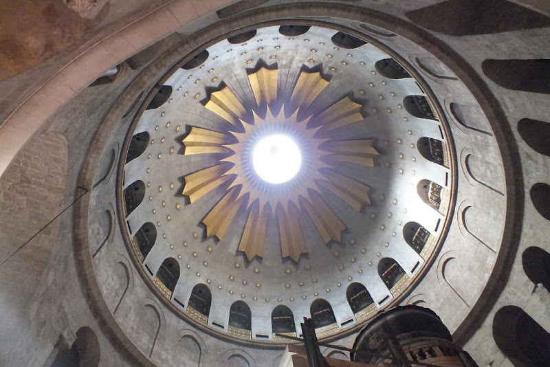 One of two domes in the Basilica of the Holy Sepulchre, or the Church of the Resurrection in Jerusalem.