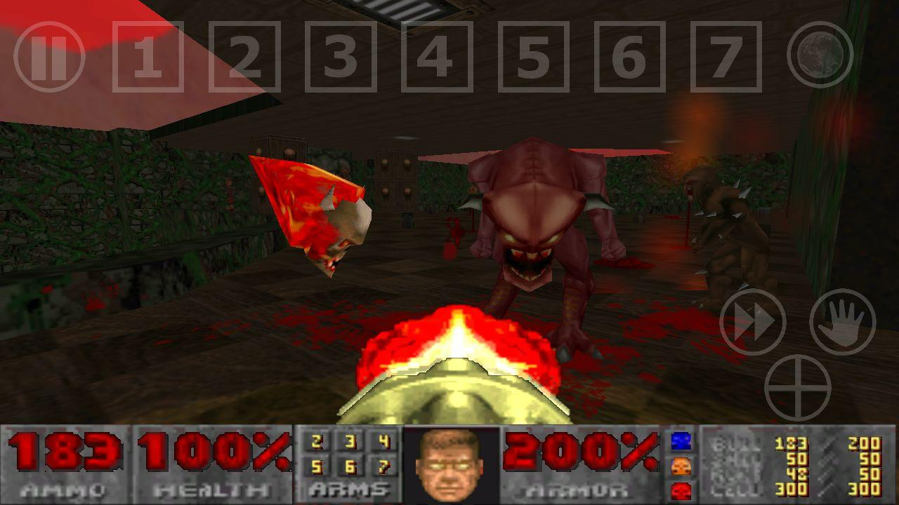 Doom GLES - screenshot