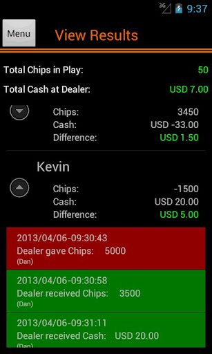 Poker Accounting for Dealers