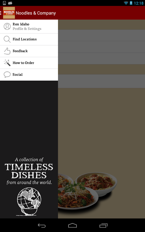 Noodles & Company Ordering- screenshot