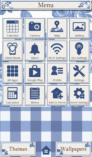 CuteTheme-BlueGingham and Rose 1.0 Windows u7528 2