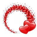 Valentine Hearts LWP icon