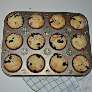 Blueberry Rhubarb Muffins