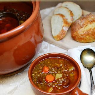 Lentejas con Chorizo (Spanish Lentil Soup)