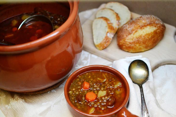 Lentejas Con Chorizo (Spanish Lentil Soup) Recipe