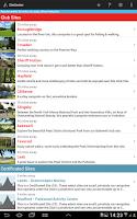 Screenshot of SiteSeeker Campsite Finder