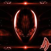 Alien Red Xperien Theme