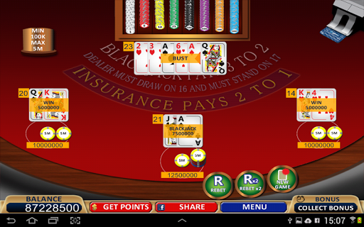 Blackjack 21+ Casino Card Game  10