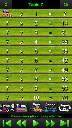 Talking Times Tables Free