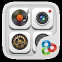 Pure White GO Launcher Theme icon