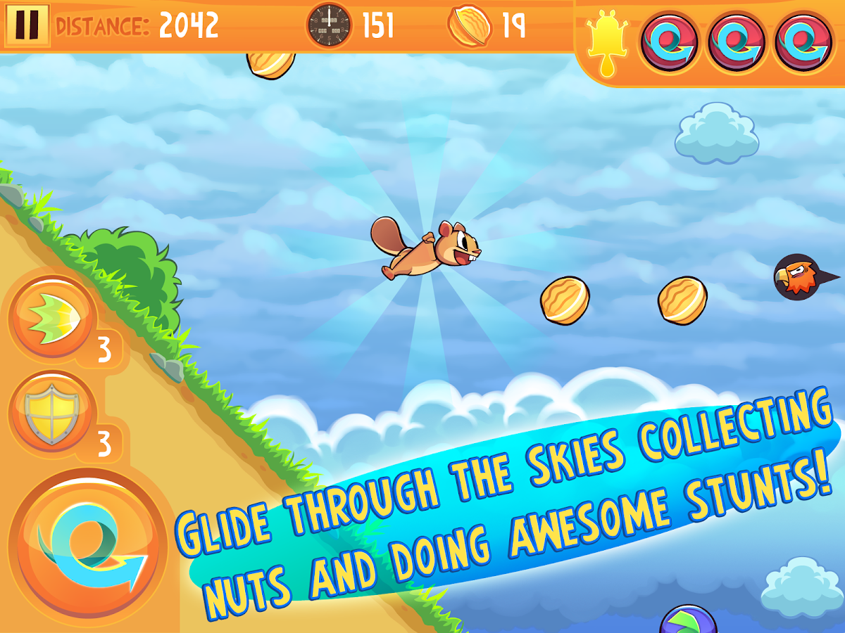 Kew Kew - Crazy Nuts Flying Squirel Game- screenshot