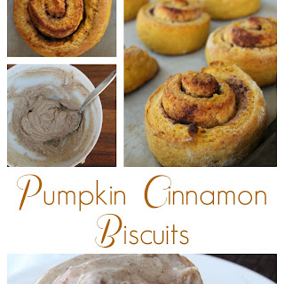 Pumpkin Cinnamon Biscuits with Brown Butter Frosting.