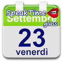 SpeakTime Glass widget icon