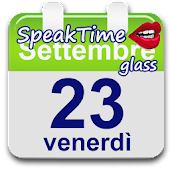 SpeakTime Glass widget