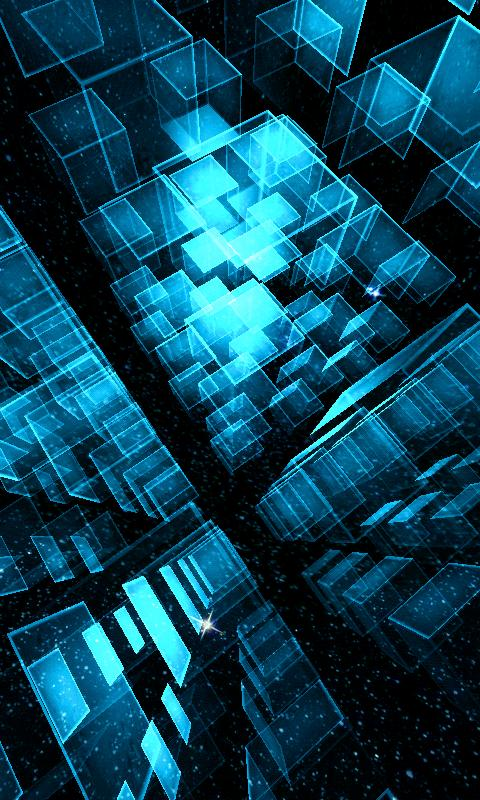 Matrix 3D Cubes 3 Trial LWP - screenshot