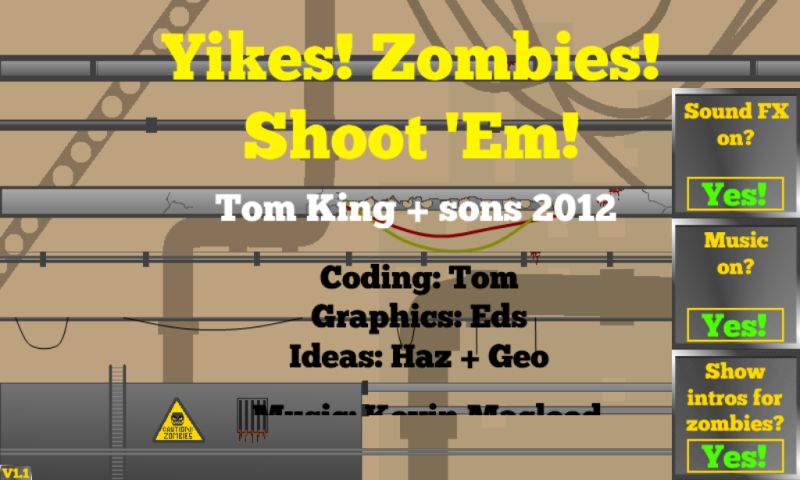 Yikes! Zombies! Shoot 'Em!- screenshot
