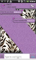 Screenshot of GO SMS THEME/PurpleTiger4U