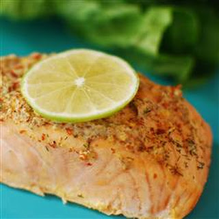 Spicy Garlic Salmon.