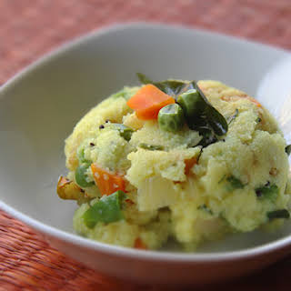 Sooji Upma (Indian Semolina Breakfast Dish).