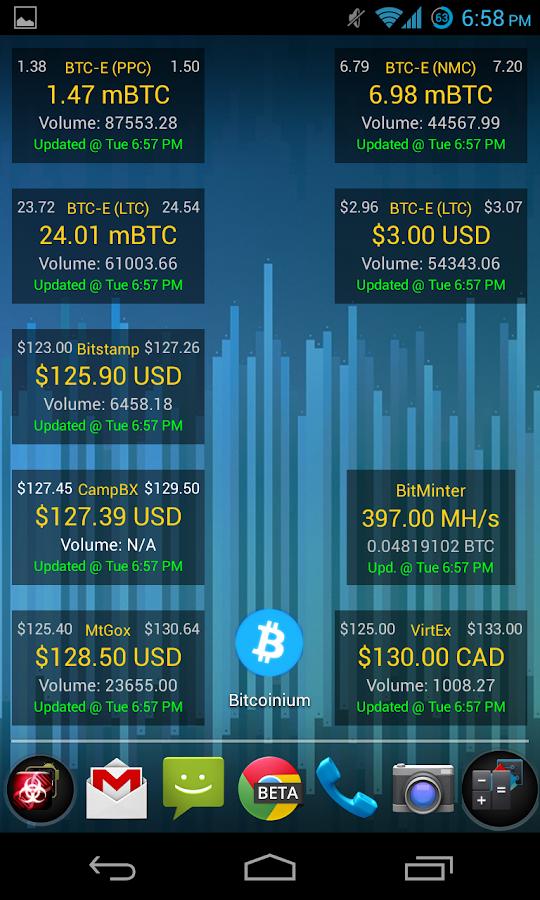Bitcoinium- screenshot