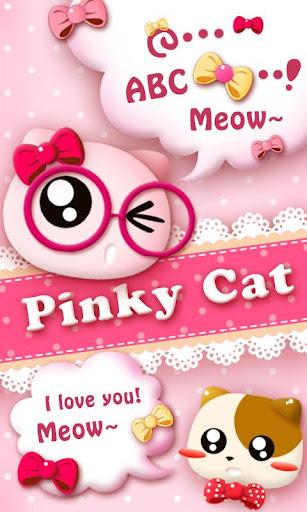GO SMS PRO PINKYCAT THEME
