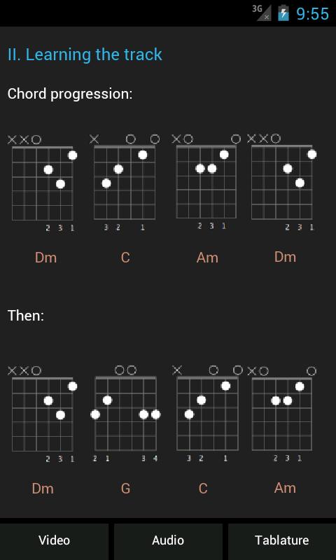 Learn Guitar : E-Folk - screenshot