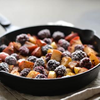 Almond, Apple & Blackberry moist skillet cake