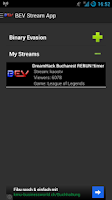 Screenshot of BEV Stream App ( Twitch )
