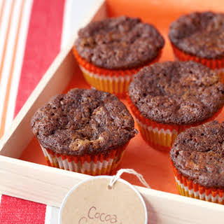 Cocoa-Carrot Cupcakes with White Chocolate Chips.