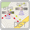 「GPS」D&A measurement tool icon