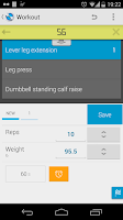 Screenshot of Jucy Workout Gym & Fitness Log