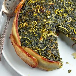 Creamy Spinach Torta in a Potato Crust