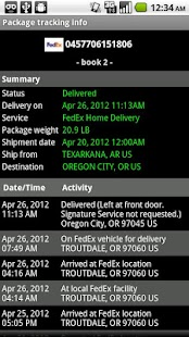 Package Tracker Express - screenshot thumbnail