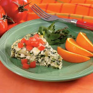 Crustless Mushroom-Spinach Quiche.