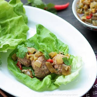 Thai Meatball Lettuce Wraps – Low Carb and Gluten Free.