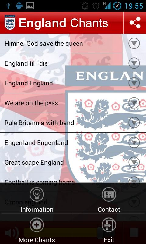 England Chants - screenshot