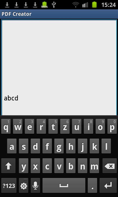 PDF Creator- screenshot