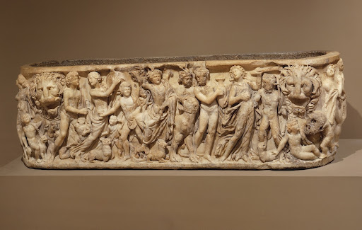 Bacchic Sarcophagus with Procession of Dionysus and his Followers