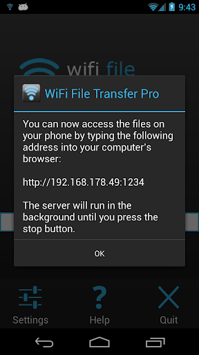 Screenshot for WiFi File Transfer Pro in United States Play Store